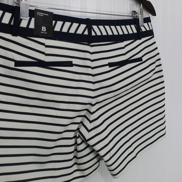 The Limited Pants - The Limited Navy Blue and White Striped Shorts